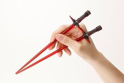 KYLO REN Coppia BACCHETTE CINESI Sushi STAR WARS VII Spada Laser CHOPSTICKS NEW