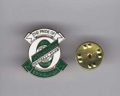 "Hibernian ""The Pride of Edinburgh"" -  lapel badge butterfly fitting"