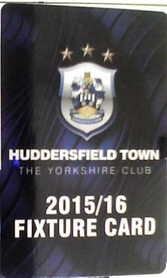 Huddersfield Town Fold Out Fixture Card 2015-16 Excellent Condition