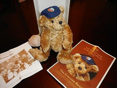 Merrythought Limited Edition Evacuee Bear For Compton Woodhouse 13 Inches Tall