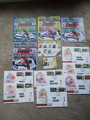 2002 F.I.F.A World Cup Korea-Japan Mint Mini Sheets Stamps & First Day Covers