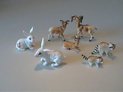 Lot Of Vintage 1960's Miniature Bone China Forrest Animals