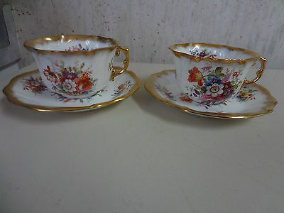 Two Hammersley Lady Patricia Scalloped Edge Flat Cups And Saucers,f.howard