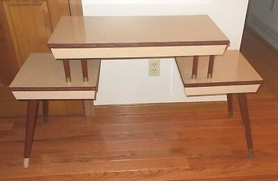 Mid Century Modern Table 1950's 3 Section 2 Tier