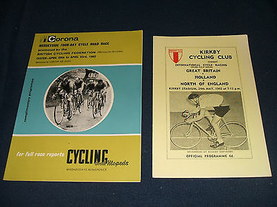 2 x Vintage CYCLING PROGRAMMES (1960s)