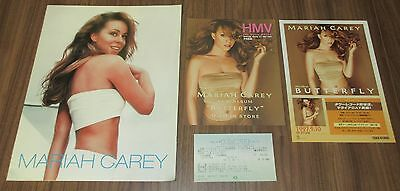 With PROMO flyer & TICKET stub! MARIAH CAREY 1998 JAPAN TOUR BOOK more listed!
