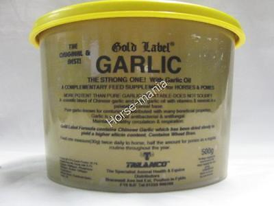 Gold Label Garlic Powder Supplement For Horses Ponies 500G