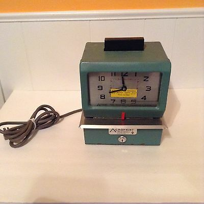 AcroPrint 125DR3 Time Punch Clock - Used- No Key