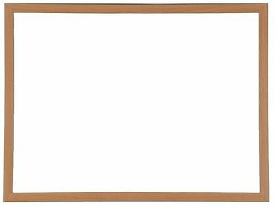 Wooden Framed Magnetic Drywipe White Board 1200mm x 900mm Dry Wipe Whiteboard