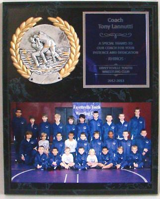 """Wrestling Coach's / Sponsor Picture Plaque 8"""" x 10"""" with PM5118"""