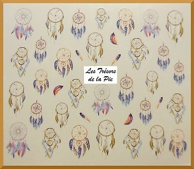 STICKERS ONGLES WATER DECAL (x40) - Nail art - Dreamcatchers - Multicolore