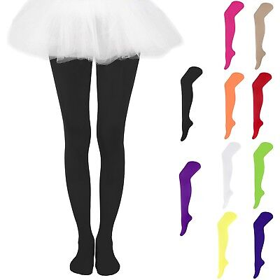 Girls Kids Solid Candy Colors Footed Leggings Stockings Ballet Dance Tight-Pants
