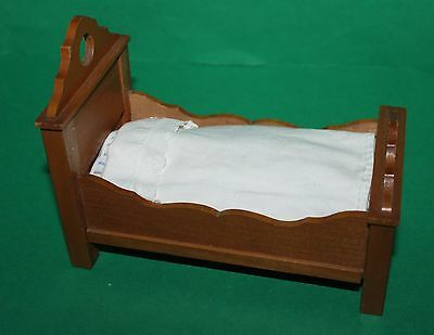 Vintage Dolls House German Schneegas Bed And Bedding