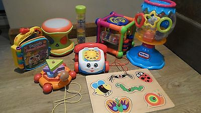 Bundle Baby /Toddler Toys Activity Cube  Drum  Rainmaker  Phone  Shapes  Book