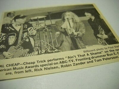 CHEAP TRICK on ABC-TV show Original 1980 media only promo image with text