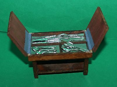 Vintage Dolls House Cutlery Canteen And Cutlery