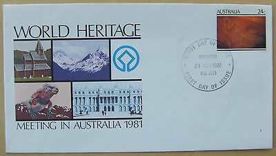 1981 Australia World Heritage first day stamp cover