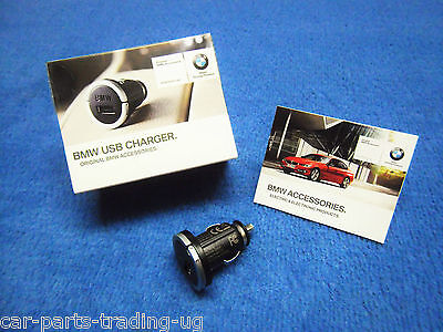 BMW F34 3 Series Gran Turismo USB Charger NEW Adapter Lighter New 6541 2166411