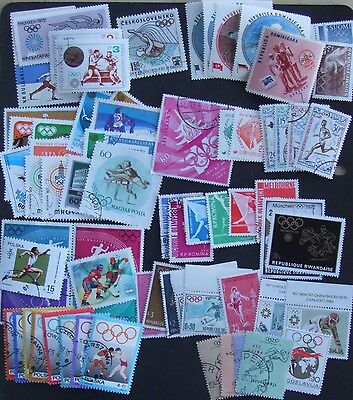 70 Olympic Games stamps from 15 different countries Belgium 4 Czechoslovakia 1 D