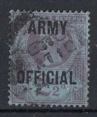 SG O44  2½d Purple/Blue  Army Official     Used   (610)