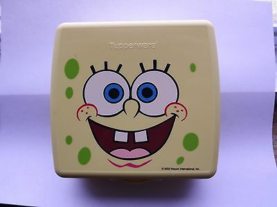 Tupperware Spongebob SquarePants Sandwich Keeper - Yellow - 2003 ~NEW