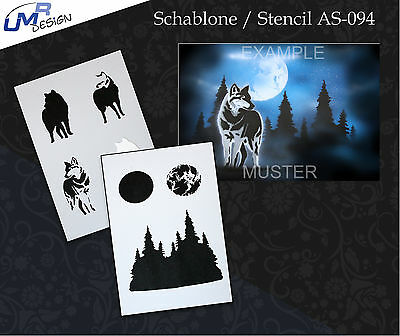 Step by Step Stencil ~~ UMR Airbrush Schablone AS-094 M