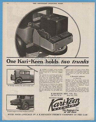 1929 Kari-Keen Manufacturing Co Sioux City Iowa Automobile Trunk Carrier Ad