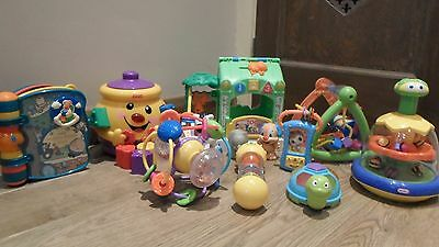 Bundle Baby /Toddler Toys Book Spin Top  Shapes  Activity Triangle Phone House