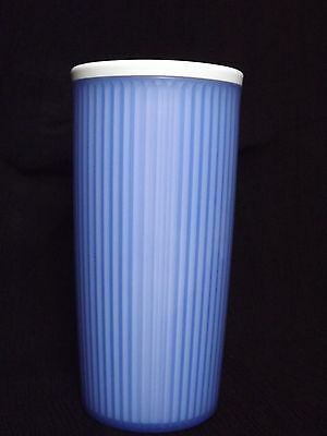 Tupperware Purple & White  Insulated Tumbler ~ No Lid~24 Ounce ~ Used~ NO Stains