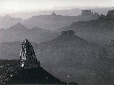 Post Card Of Grand Canyon National Park By Ansel Adams