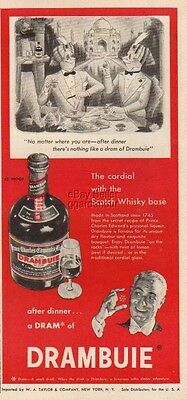 1955 Eskimo Drambuie Liqueur Whisky~Whiskey Vintage Bottle Richard Taylor Art Ad