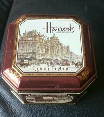 Harrods tin - empty -  ideal box for that special Christmas gift