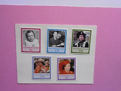 ASCENSION ISLAND: 1986 Queen's 60th Birthday 5vals MNH Sg397/401