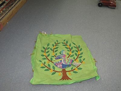 """Vintage Hand Made stitched Applique Sequin  Embroidery 22"""" x 26"""" Tapestry"""