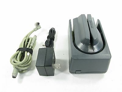 Gray MagTek 22530005 MICR  Check Reader  ~ REV M w/ Power and Cable