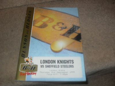 London Knights v Sheffield Steelers 2/9/99