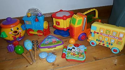 Bundle Interactive Baby Toys Drum Train Book Instruments Shapes Fisher Price