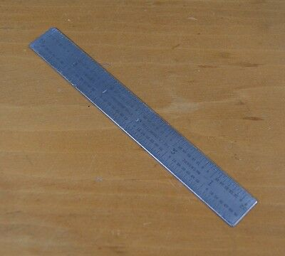 """Vintage L.S. Starrett Co. 6"""" Ruler No. C604RE USA Tempered Steel / Rule  S-0706"""