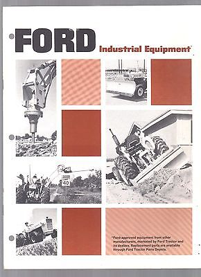 1972 Ford Tractor Industrial Equipment Attachment Brochure