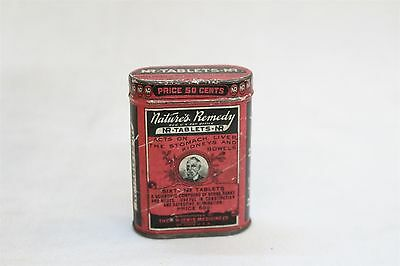Antique Ad Art Tin NR Tablets Natural Remedy 1900s Apothecary Item