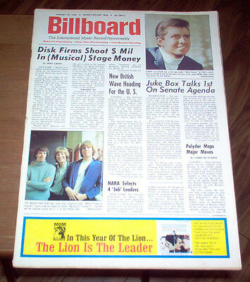 Billboard Magazine 1966 Beatles #1 Album Rubber Soul Turtles Moody Blues Ads