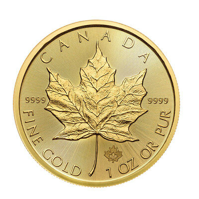 2017 1 oz Canadian Gold Maple Leaf $50 Coin .9999 Fine