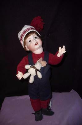 Beautiful Bisque Antique Reproduction German Simon Halbig Character Boy Doll
