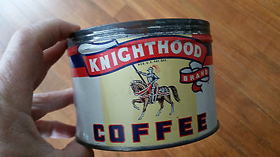 old Knighthood 1lb Keywind Coffee Tin,Pennsylvania Co,,Does not have a Lid