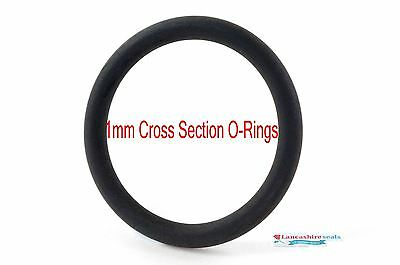 O-Rings Nitrile 1mm Cross Section 1mm to 15mm ID 25 Pack