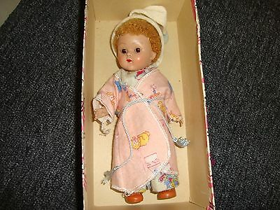 Boxed brown eyed Strung Ginny Wee Little Winkie doll