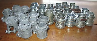 """Lot Of 32 T&b Electric 3/4"""" Conduit Straight Connectors Fittings"""