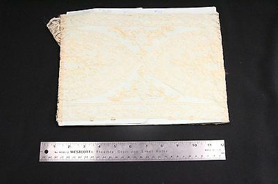 S Antique Estate Textile Lace Seamstress 2 yds Gold Color Thread Lace Runner #23