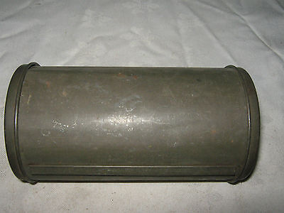 Old Large Tinplate Nut Loaf Canister Baking Tin