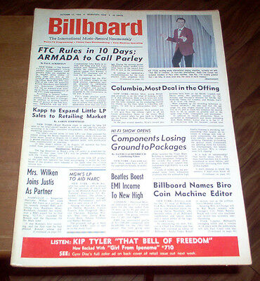 Billboard Magazine 1964 The Beatles Articles #1 & 2 Albums Beatlemania! Charts